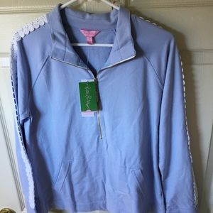 ✨NWT✨Lilly Pulitzer Lace Sleeve Skipper Popover